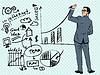 Векторный клипарт: Бизнесмен, бизнес-концепции успеха