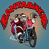 Weihnachtsmann-Radfahrer-Motorrad Weihnachtsgeschenke