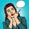 Frau denkt Arbeit Geschäftsfrau
