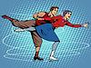 Paar Eiskunstläufer Eistanz