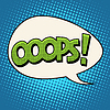 oops Comic-Sprechblase