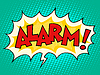 Alarm Comic-Sprechblase