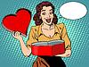 Векторный клипарт: Романтический подарок сердце любовь женщины удовольствие