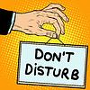 Hand-Zeichen nicht stören