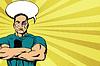 Векторный клипарт: Сильный человек после боя
