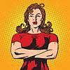 Векторный клипарт: Сильный женский телохранитель спортсмен