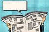 Векторный клипарт: Пресс-газета читать новости