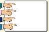 Hände Zeigefinger Zeiger Plakat