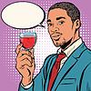 Векторный клипарт: на винодела пахнущие красное вино в стекле