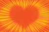 Yellow orange background heart | Stock Vector Graphics