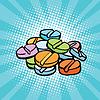 bunten medizinische Pillen, Sport Doping und Drogen