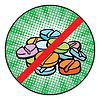 Stop-Schild-Symbol Doping