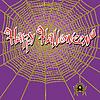 Векторный клипарт: Happy Halloween Паутина и паук