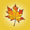 Red maple leaf in autumn | 向量插图