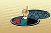 Векторный клипарт: Указательный палец люка