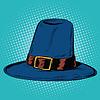 Векторный клипарт: Урожай шляпа паломника