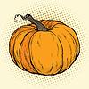 Векторный клипарт: Спелая тыква, День благодарения или Хэллоуин
