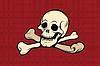 Vektor Cliparts: Piratenflagge. Totenkopf