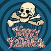 Vektor Cliparts: Happy Halloween Schädel und Knochen