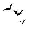 Vektor Cliparts: Schwarze Silhouetten von Fledermäusen