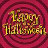 Vektor Cliparts: Happy Halloween Inschrift auf Retro-Hintergrund