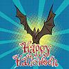 Vektor Cliparts: Happy Halloween Fledermaus Vampir