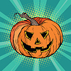 Vektor Cliparts: Schlechter Kürbis Charakter Halloween