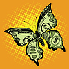 Butterfly dollar bill | Stock Vector Graphics