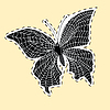 Dark butterfly web label sticker | Stock Vector Graphics