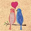 Vögel in Liebe