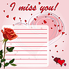 I miss you   Stock Vector Graphics