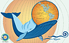 Whale essen Globus