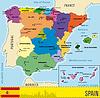 Landkarte von Spanien mit Provinzen