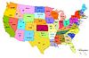 Karte von USA mit Staaten