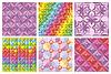 Векторный клипарт: набор абстрактных бесшовных узоров и фонов