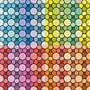 Vektor Cliparts: Set von abstrakten nahtlose Muster und Hintergründe