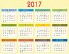 Vektor Cliparts: Kalender 2017 Jahre