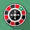 Casino Roulette-Rad flach Symbol | Stock Vektrografik