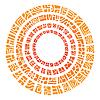 ethnischen Kreis Sonne
