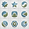 Set von verschiedenen Symbolen
