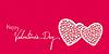 Valentines Day Gruß Banner Hintergrund
