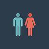 Mann und Frau Symbole, Toilettenzeichen, Toilette Symbol