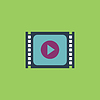 Einfache Media player Flach icon
