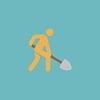 Baustelle Flach icon