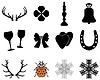 Векторный клипарт: Новогодние и Рождественские иконки