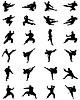Vektor Cliparts: Karate kämpfen, Vektor