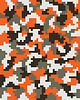 Seamless digital camouflage    向量插图