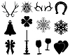 Векторный клипарт: Рождественские иконки