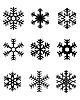 Векторный клипарт: черные снежинки