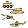 Militärische Symbole